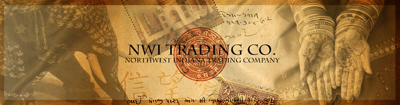 NWI Trading Company, local hand made goods, and imports form around the world.  Items from Valparaiso Indiana, Wanatah Indiana, Portage Indiana, Westville Indiana, Mumbai, Jaipur, New Dehli, Oman, China and more.